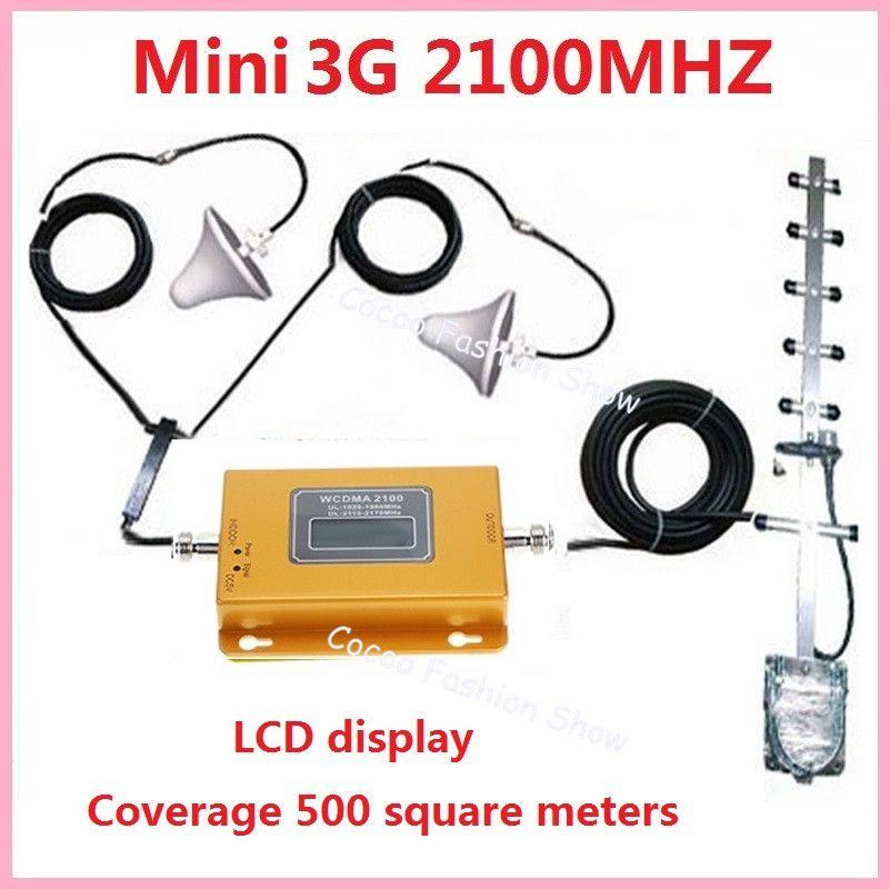 LCD display!!! 3G UMTS WCDMA 2100 Mhz booster + 2 zimmerantenne, 3G Zellulären repeater signalverstärker 3G booster repeater kits