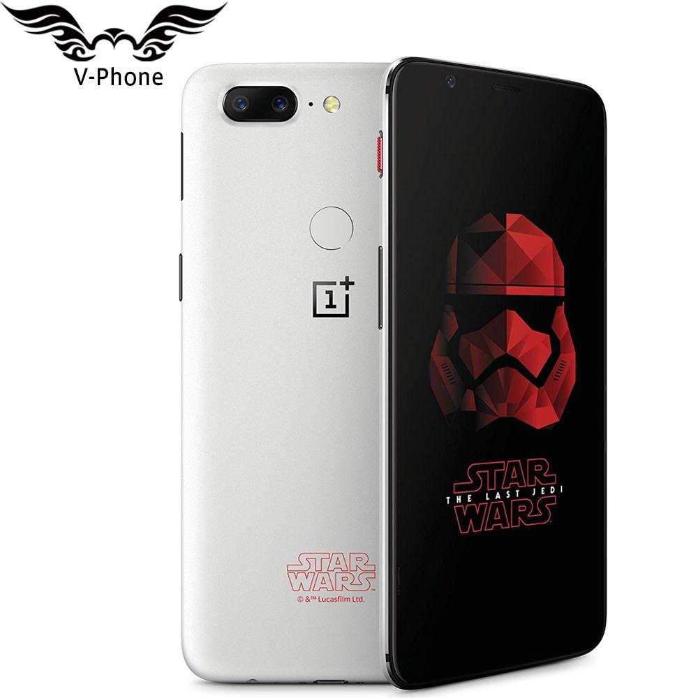 Ursprüngliche OnePlus 5 T Star Wars Limited Edition Handy 8 GB 128 GB Octa-core 6,01 zoll Vollbild Fingerprint Smartphone