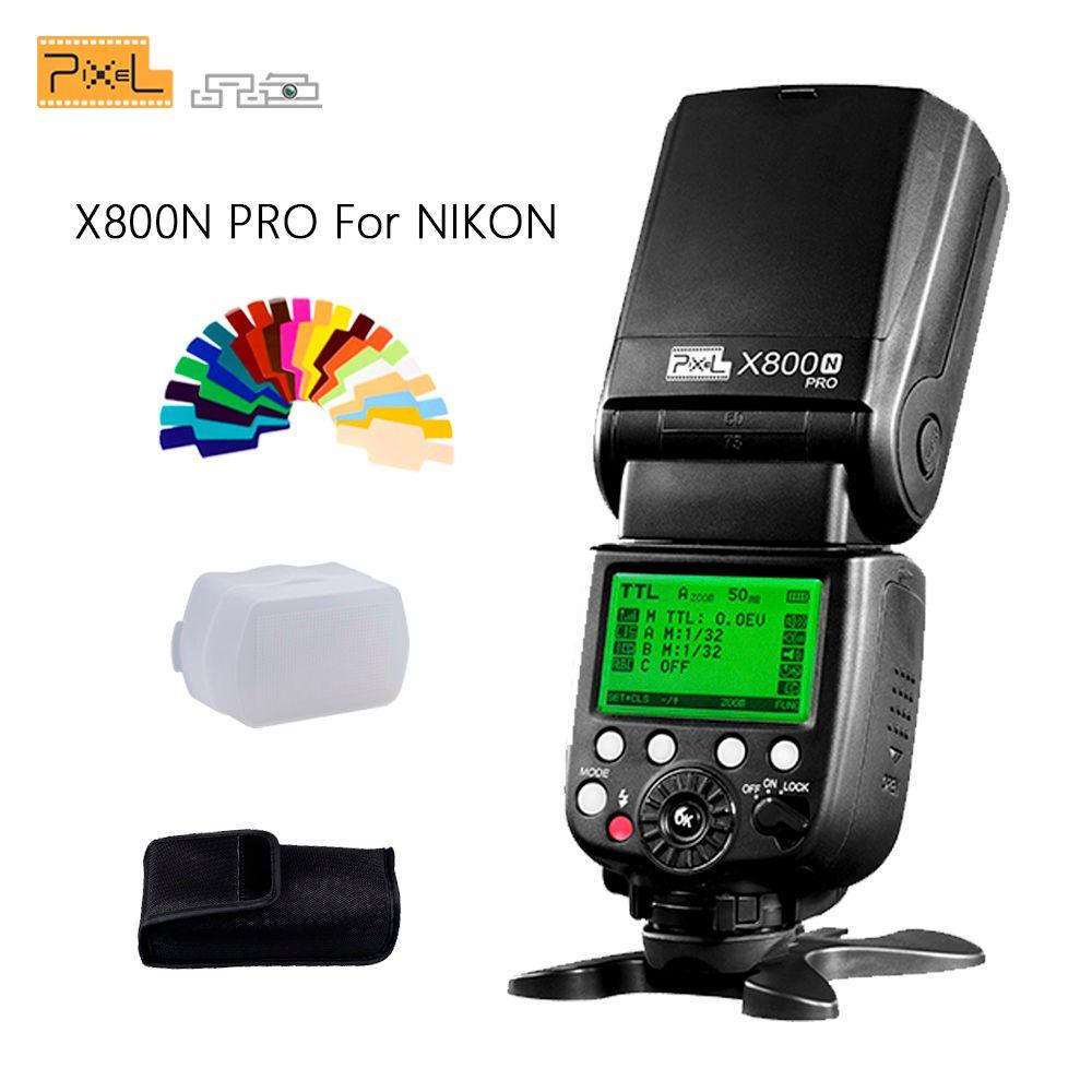 Pixel X800N Pro Flash Speedlite pour Nikon d7100 d3100 d5300 d7000 d90 d750 ITTL HSS haute vitesse synchronisation Flash externe Vs YN568EX
