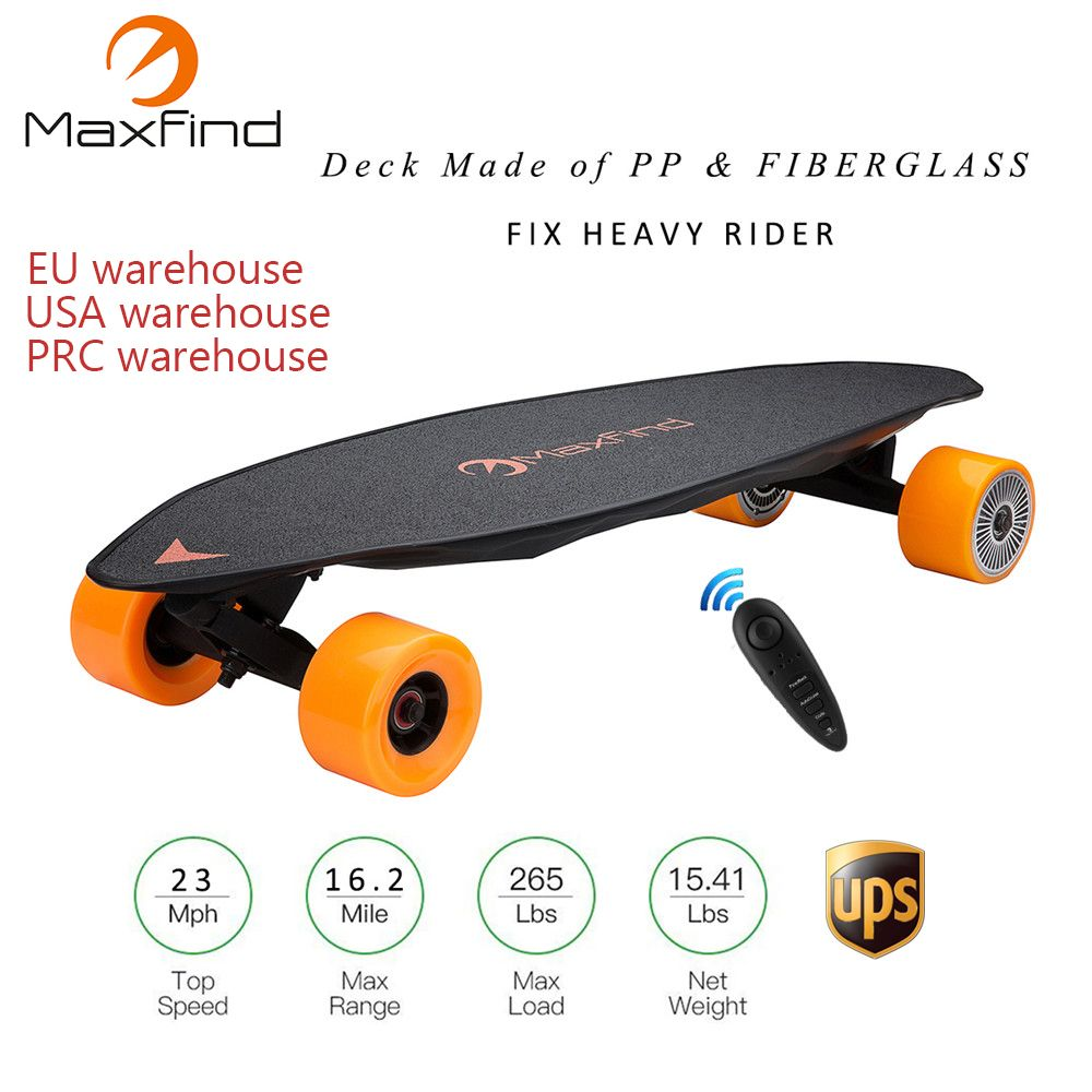 Maxfind Vier Rad Elektrische Skateboard MAX2, 2000 W Dual Motoren Wireless Remote Cotroller Roller Platte Bord Hoverboard Einrad