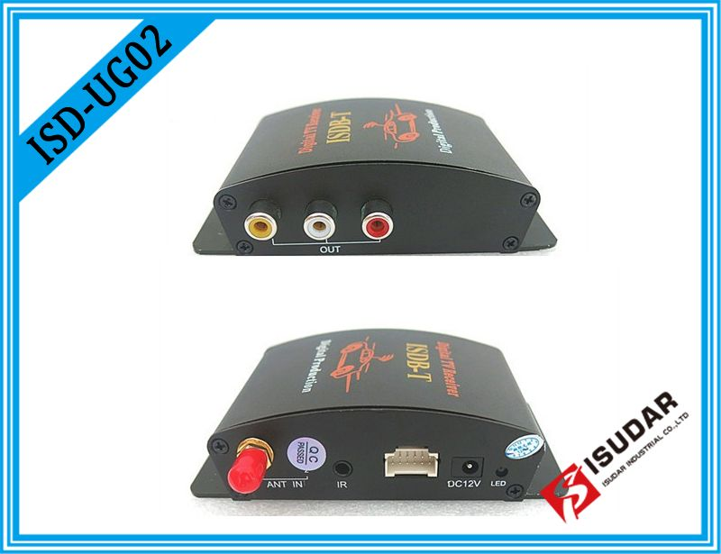 Isudar Digital TV Receiver for Car TV Tuner ISDB-T 2 Way Video Out Put For Japan Brazil South America Free Shipping