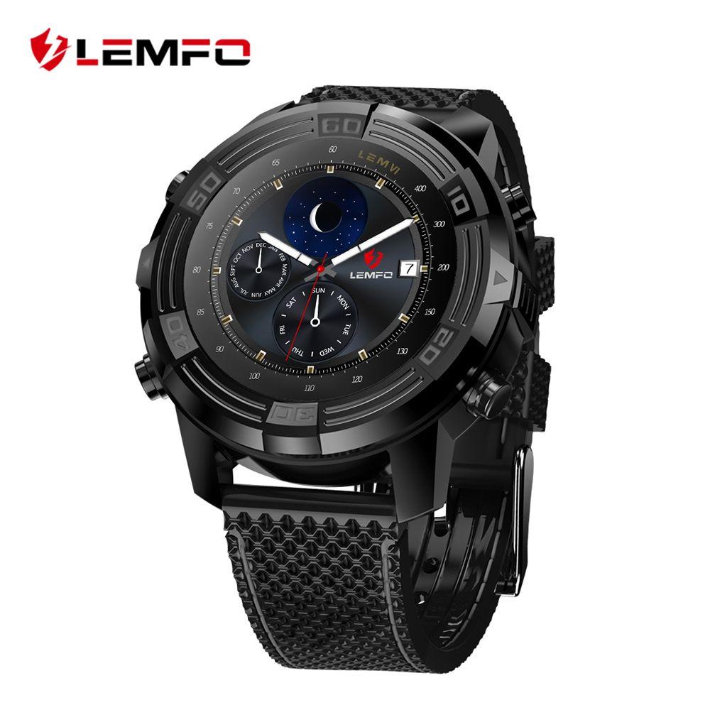 LEMFO LEM6 Android 5.1 Montre Smart Watch Téléphone Étanche GPS Tracker 1 GB + 16 GB Smartwatch avec Remplaçable Sangle
