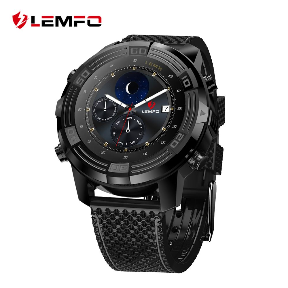 LEMFO LEM6 Android 5.1 Smart Watch Phone Waterproof GPS Tracker 1GB + <font><b>16GB</b></font> Smartwatch with Replaceable Strap