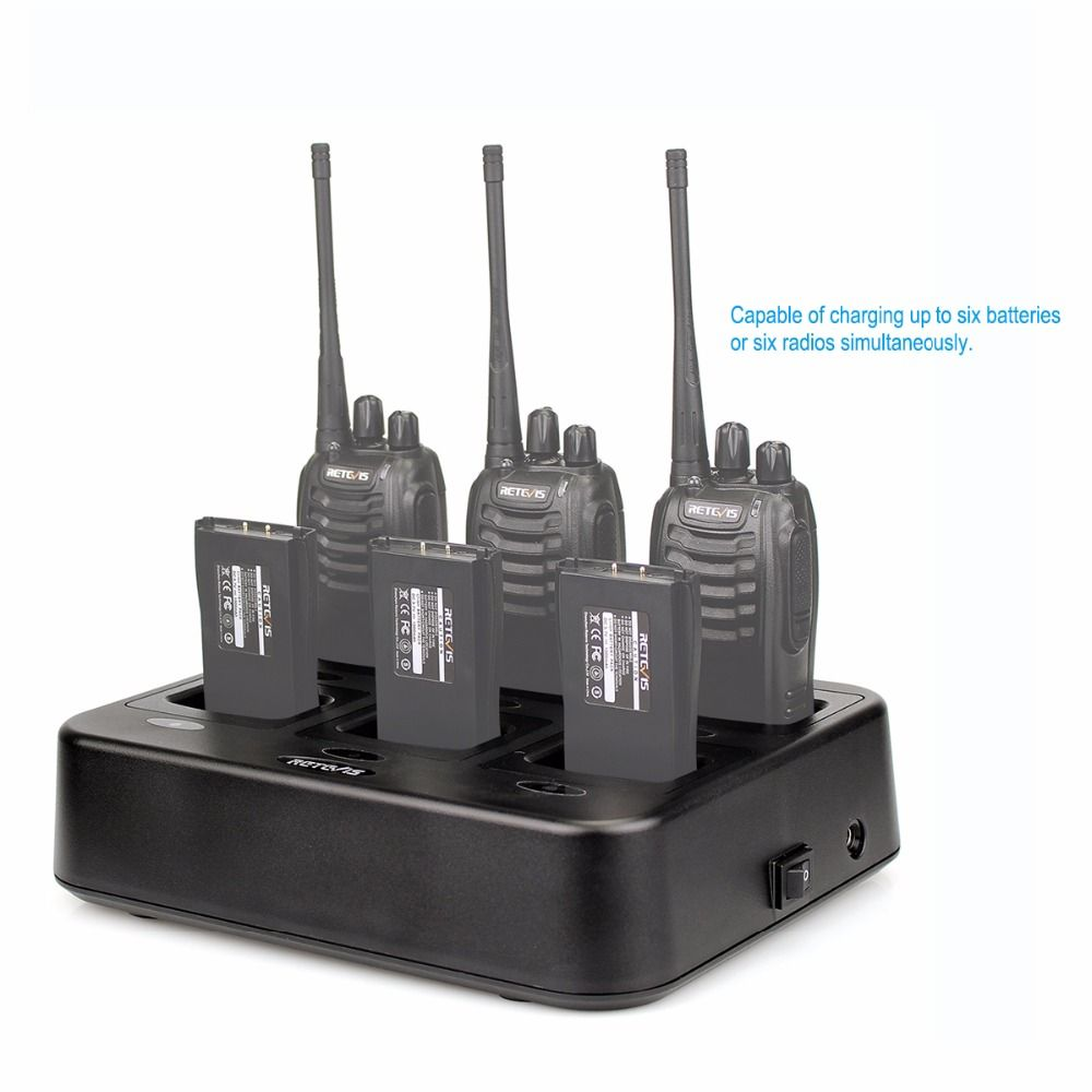 Retevis RTC777 Six-Way Charger for Retevis H777 Baofeng 888S BF-888S Two Way Radio Walkie Talkie C9059A
