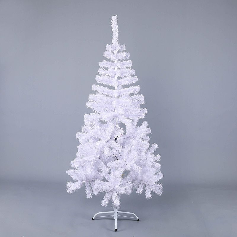 150cm White Luxury Christmas Tree DIY Decorations For Home Iron Foot Xmas Tree Hotel Family New Year Encrypted Christmas Tree