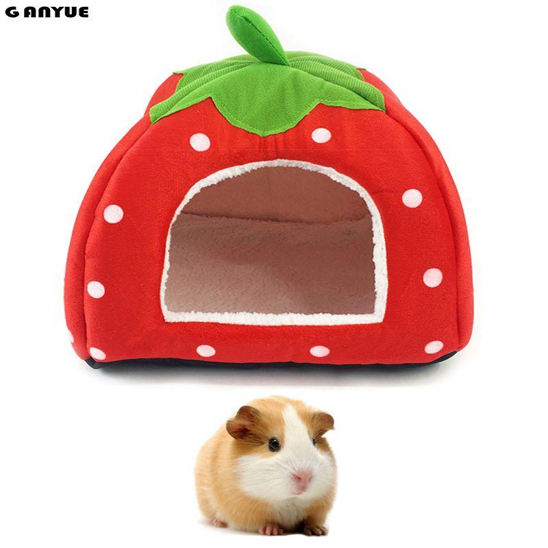 Ganyue мелких животных спальный дом хомяка щенок котенок дома кровать мягкой морской свинки гнездо кровать мини Животные Ежик теплый дом кров...