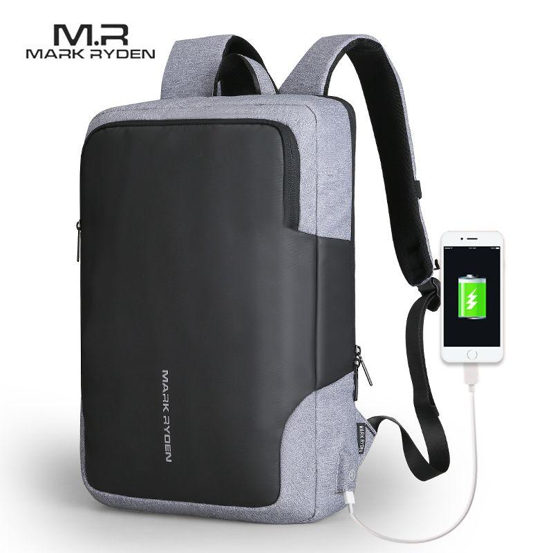 Mark Ryden Männer Rucksack Business Multifunktionale USB Aufladen 15 zoll Laptop Rucksack Wasserdicht Rucksack