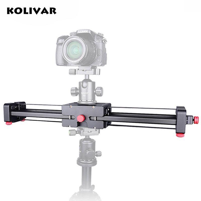 KOLIVAR Portable DSLR Video Camera Slider 500mm Double Range Travel Dolly Slider for SLR Camera Camcorder Photography Video Film
