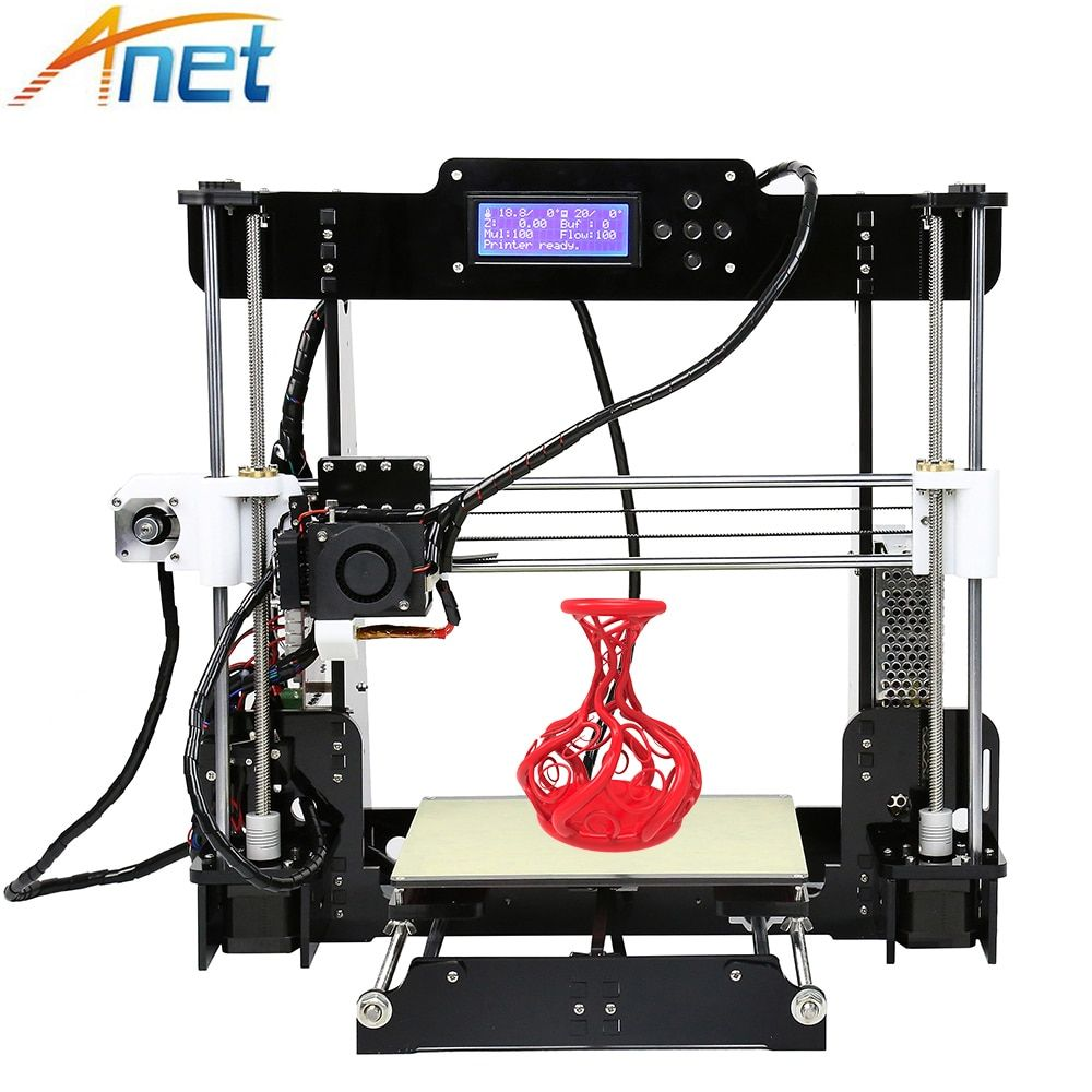 2017 Upgraded ! Anet Normal&autolevel A8 3D Printer Reprap i3 DIY Easy Assemble with 10M  Filaments 8G SD Card+Tool for Free