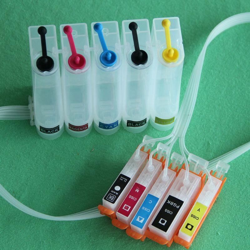 5 couleurs ciss PGI 450 CLI 451 Vide CISS pour Canon PIXMA IP7240 MG5440 MG5540 MG6440 MG6640 MG5640 MX724 MX924 IX6840