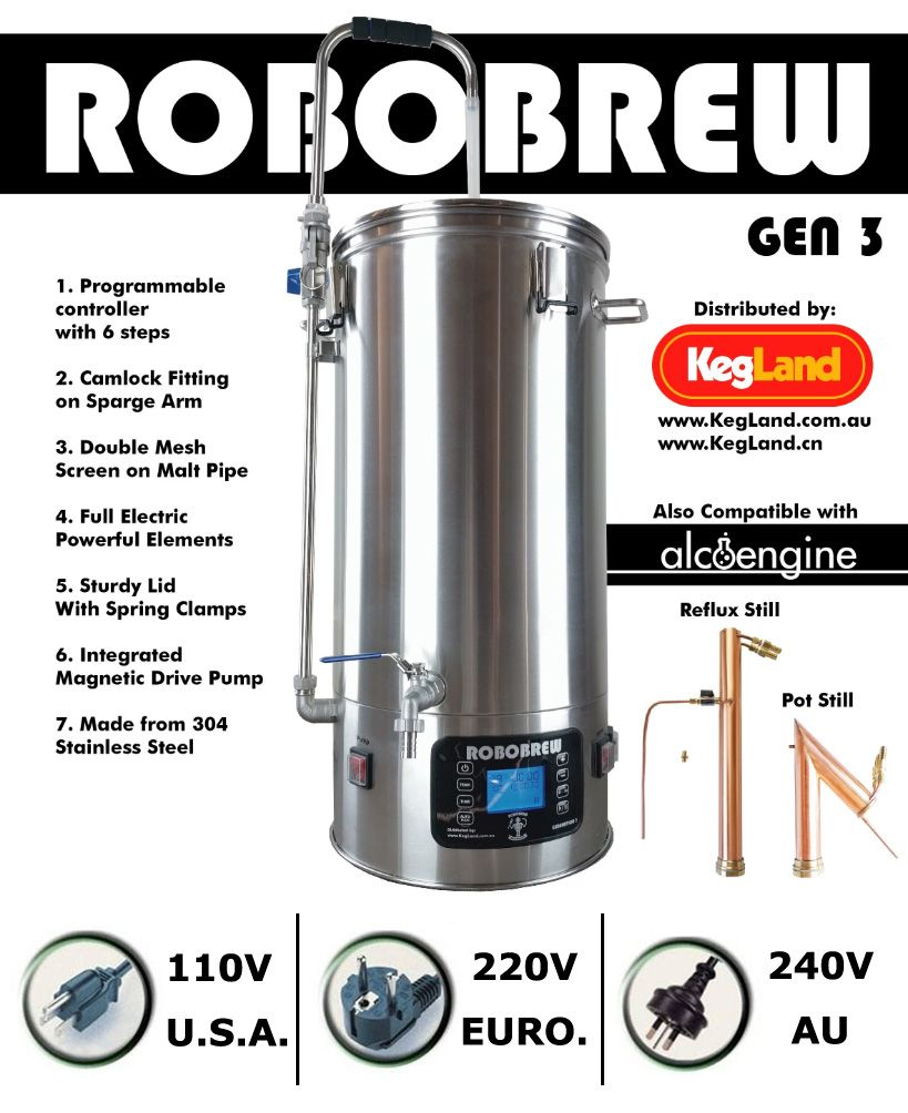 ROBOBREW 35L - GEN.3.0 - HOME BREW ALL IN ONE