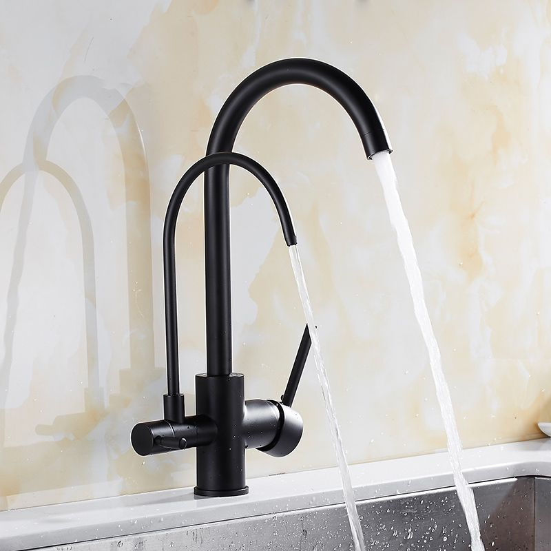 Filter Kitchen Faucets Deck Mounted Mixer Tap 360 Rotation with Water Purification <font><b>Features</b></font> Mixer Tap Crane For Kitchen WF-0176