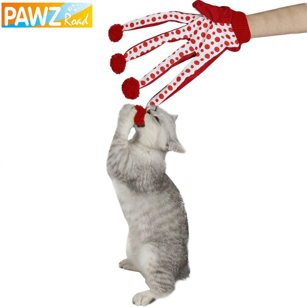 Jouet pour animaux de compagnie chat belle balle jouet drôle chiot jouet mignon à pois Scratch gant jouet rouge/vert/bleu couleur jeu avec chaton jouets