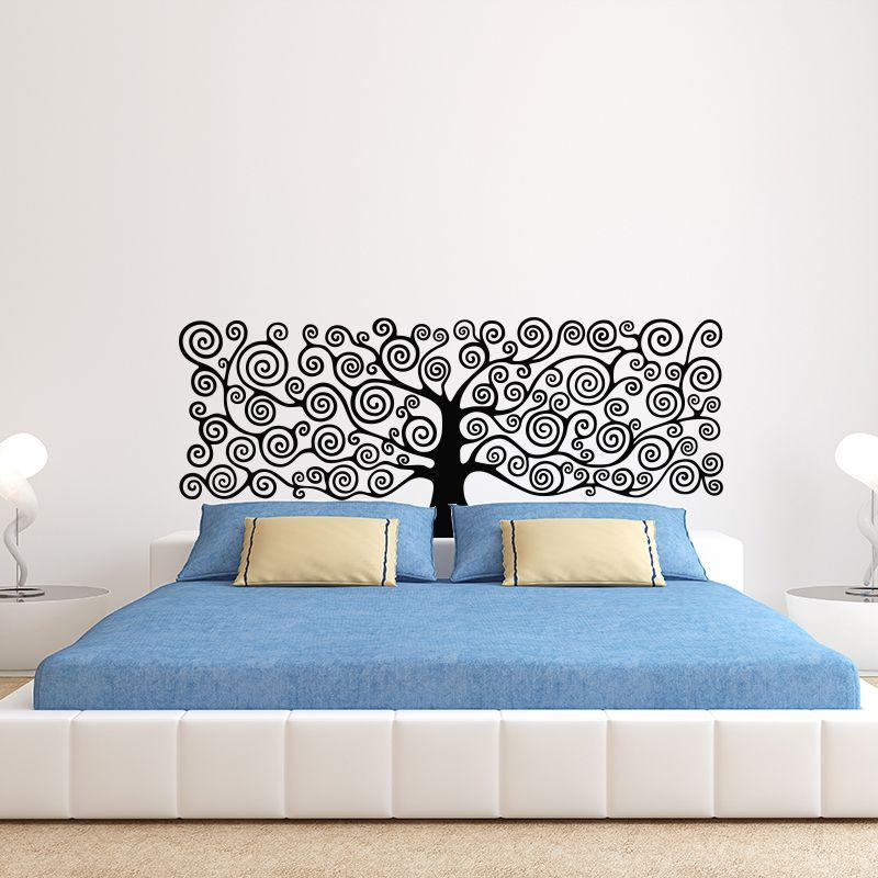 Art Decor arbre de vie Sticker mural 3D vinyle plante têtes de lit décalque bricolage décoration de maison pour chambre enfants chambre