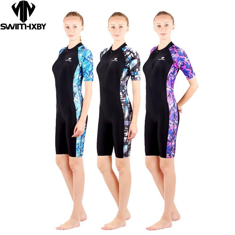 HXBY maillot de bain arena femmes maillots de bain noir impression maillots de bain compétition féminine jambes maillot de bain de course concurrentiel