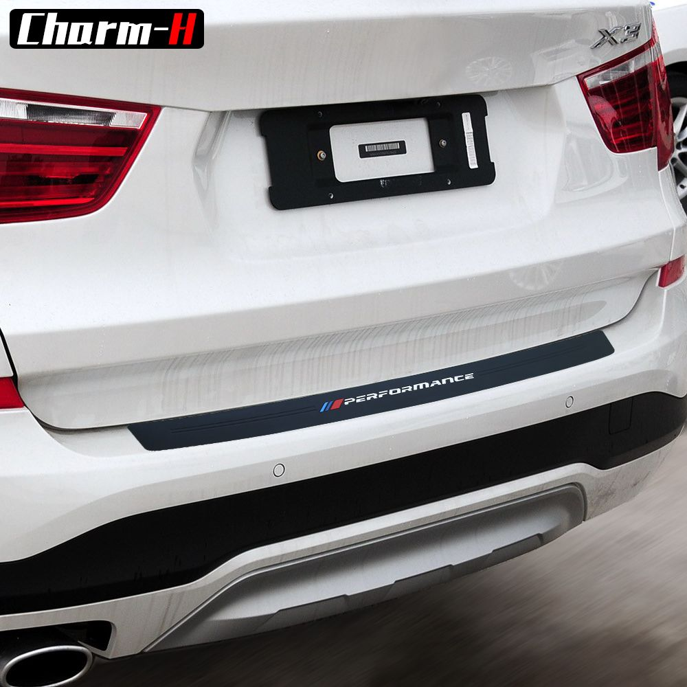Car Styling Soft Rubber Rear Bumper Trim Guard Plate Protector Sticker For bmw X3 e83 f25 X4 f26 X5 e53 e70 f15 g05 X6 e71 f16