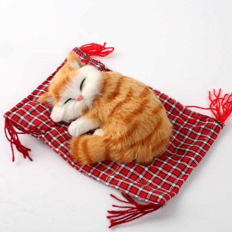 Livraison gratuite mignon! bébé artificiel chat en peluche, sommeil kat chatons chatte chat, poupée table décorations cadeau d'anniversaire pour enfant fille