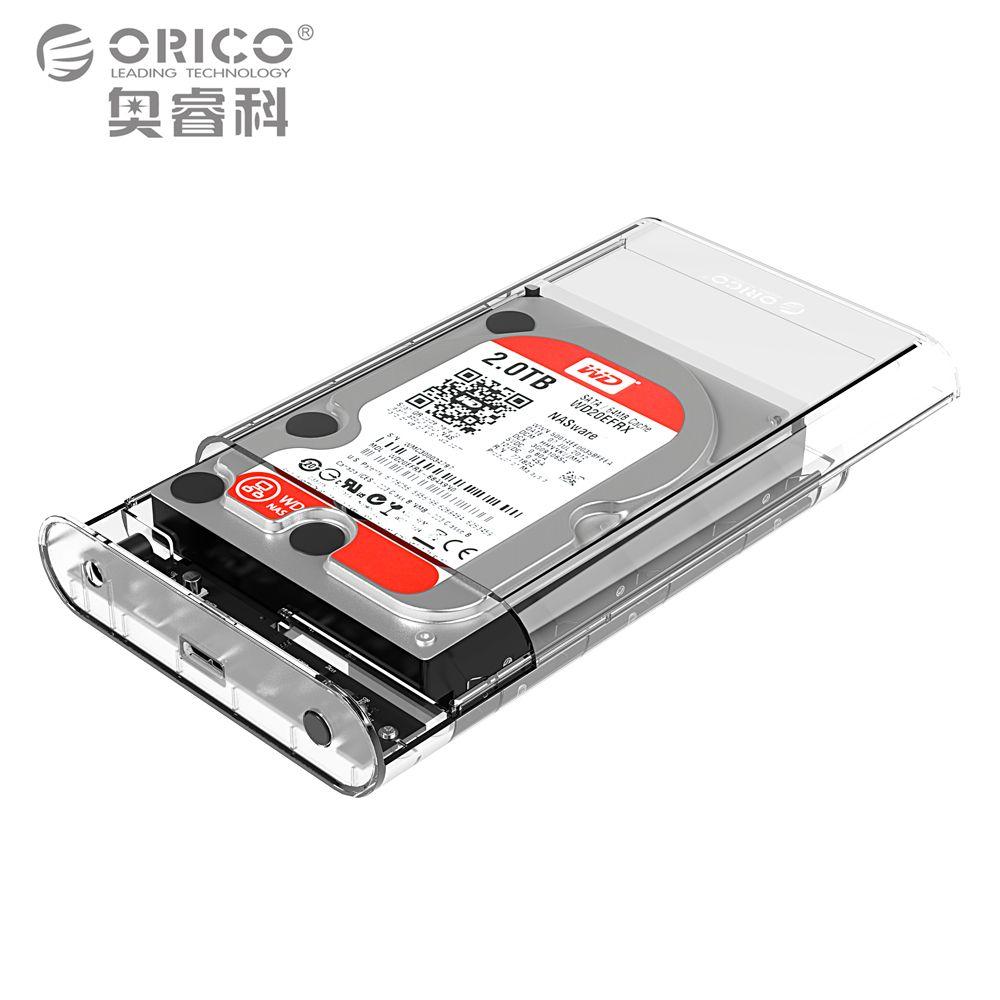 Orico 3.5 дюймов прозрачный Корпуса для жёстких дисков случае USB 3.0 5 Гбит SATA3.0 Поддержка UASP 8 ТБ диски предназначены для Тетрадь Desktop ПК