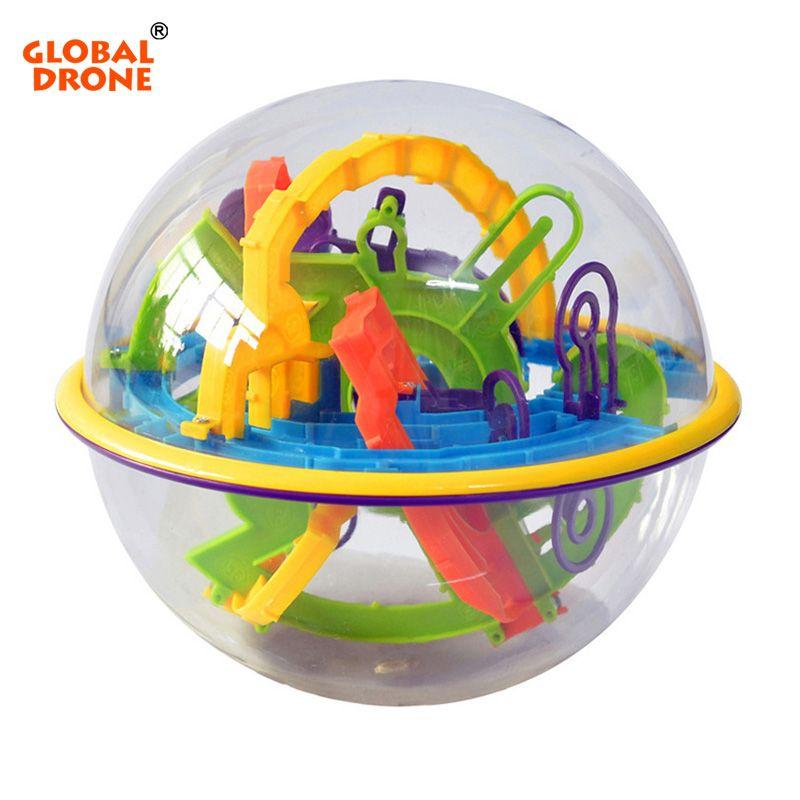 MONDIALE DRONE 3D Labyrinthe Magique Boule En Plastique Perplexus Magique Intelligence Boule Enfants Enfants IQ Éducatif Classique Jouets Labyrinthe Bal