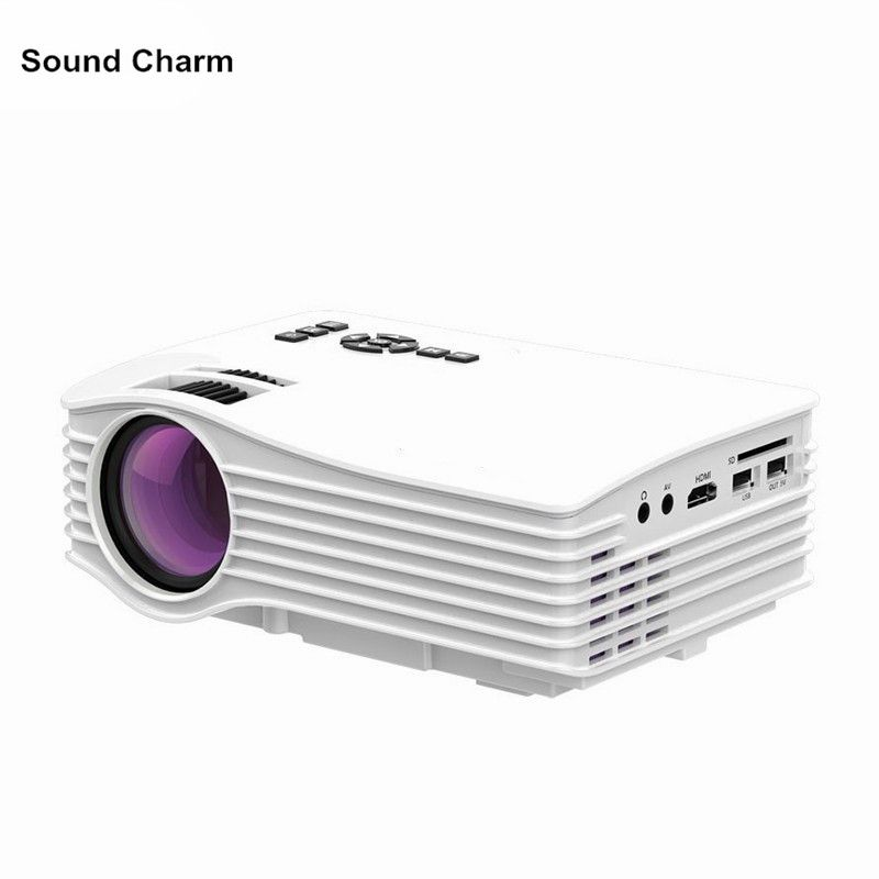 Mini Projector Max 130inch hd Portable LED Projector with HDMI USB Proyector Home Theater Beame UC36 free shipping