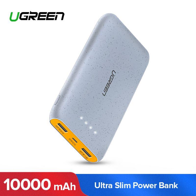 Ugreen Puissance Banque 10000 mah pour iPhone X 8 Portable Batterie Externe Chargeur pour Téléphones Cellulaires Xiao mi mi 7 huawei P20 Pro Powerbank