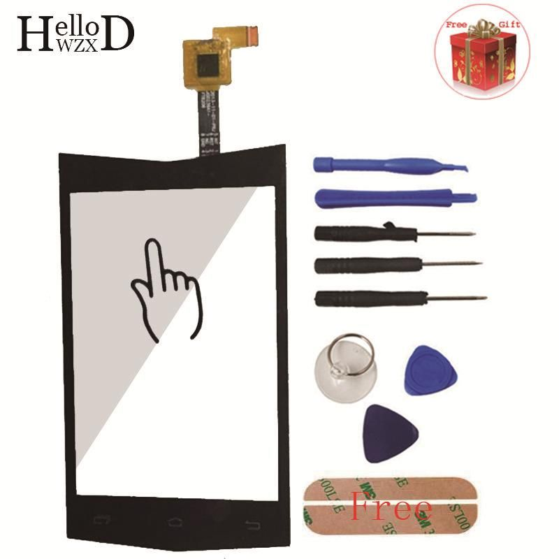 3.5 inch A+++ Touch Screen Digitizer Panel Front Glass Lens Sensor Flex Cable For Doogee TITANS DG150 Tools Free Adhesive  Gift