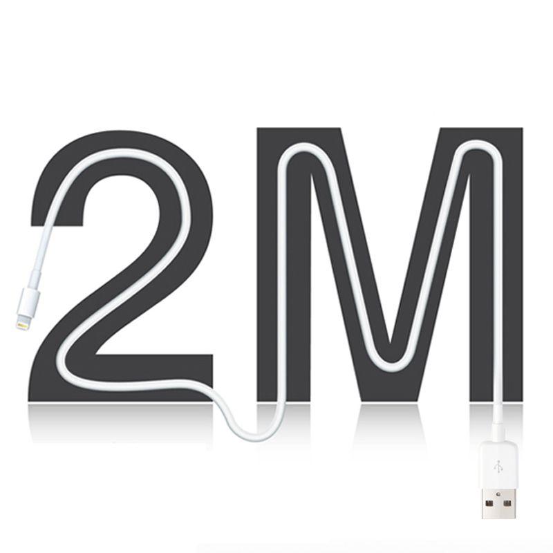 Snowkids 2m câble USB pour iPhone 5 6 7 8 X XR XsMax ipad mini air prise en Charge rapide jusqu'à iOS12 2.4A Charge rapide