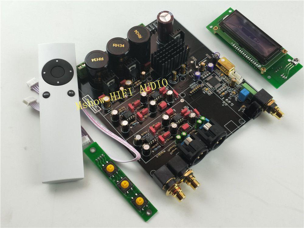 NEW hifi TOP ES9038 ES9038PRO DAC decoder assembled board + TCXO 0.1PPM + remote control + option USB XMOS XU208 or Amanero