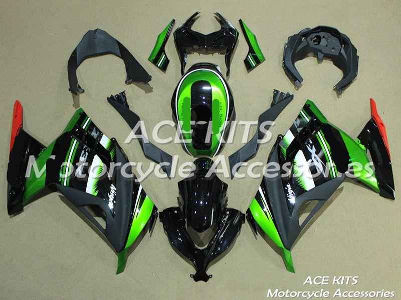 Neue ABS motorrad Verkleidung Für Kawasaki Ninja300 2013-2017 Injection Bodywor astonishing grün schwarz + TANK ACE No. 819