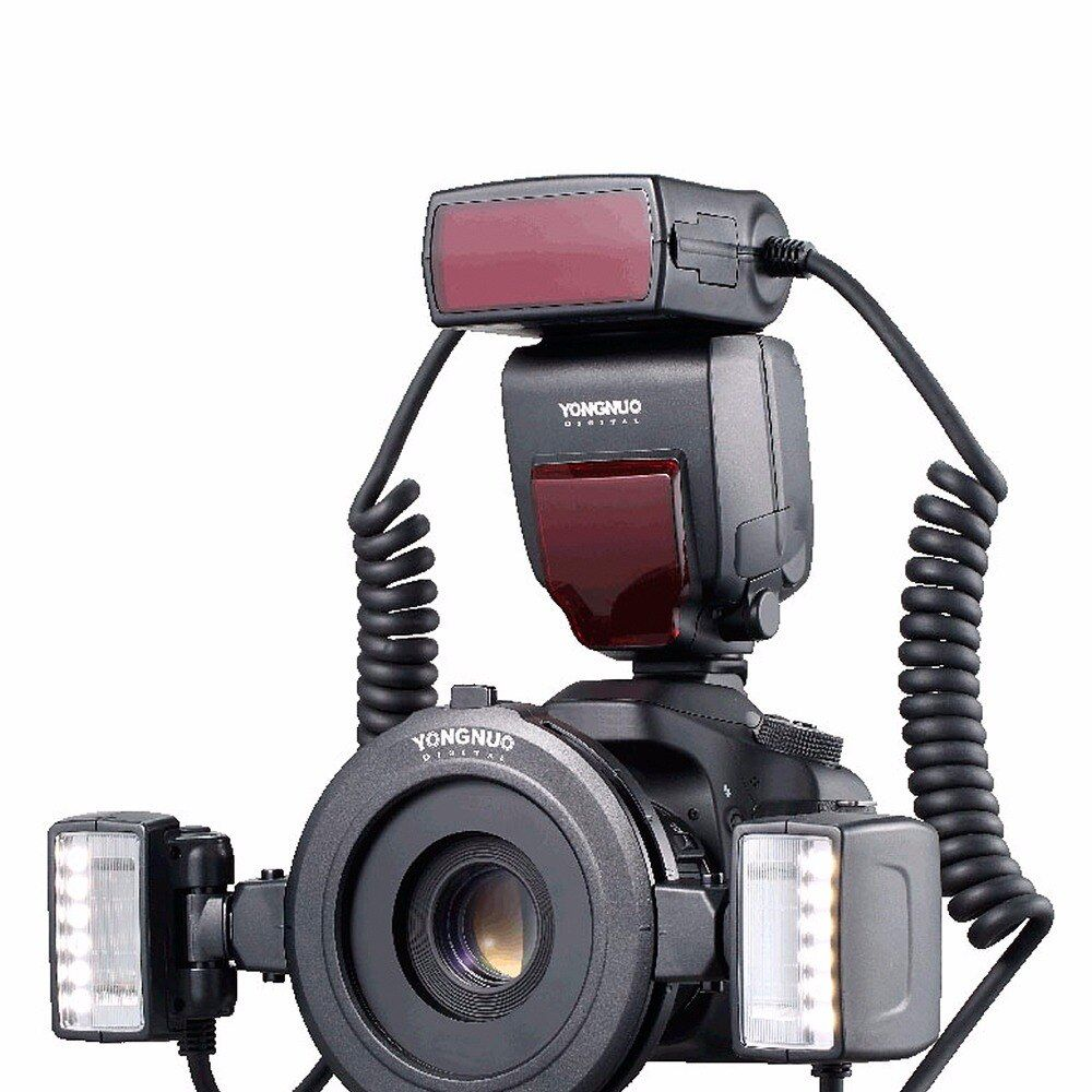 Yongnuo YN24EX TTL Macro Flash Speedlite with Adapter Rings for Canon EOS 5DII 5DIII 650D 600D 450D 1300D 6D 7500D New Listing