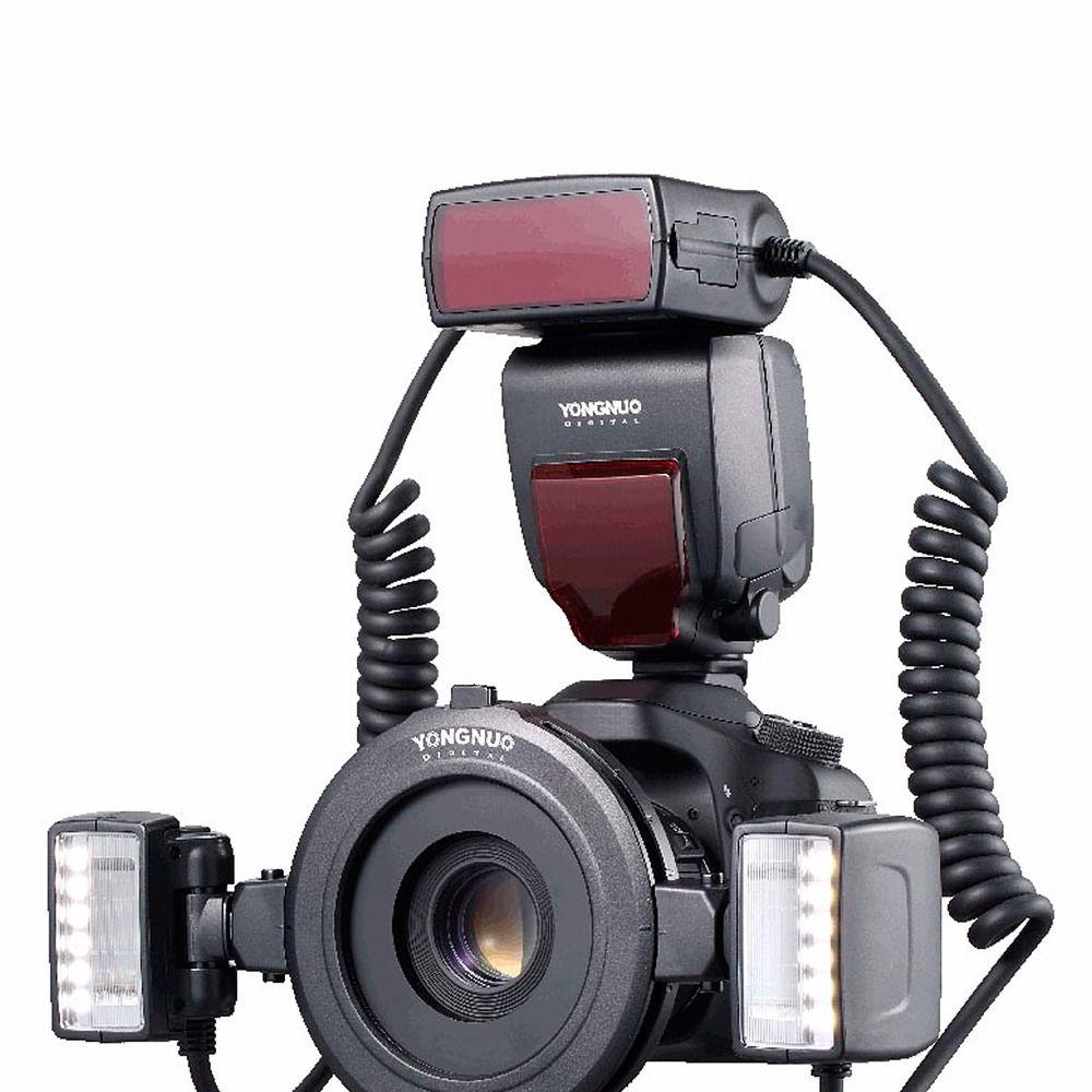 Yongnuo YN24EX TTL Macro Flash Speedlite mit Adapter Ringe für Canon EOS 5DII 5 DIII 650D 600D 450D 1300D 6D 7500D Neue Auflistung