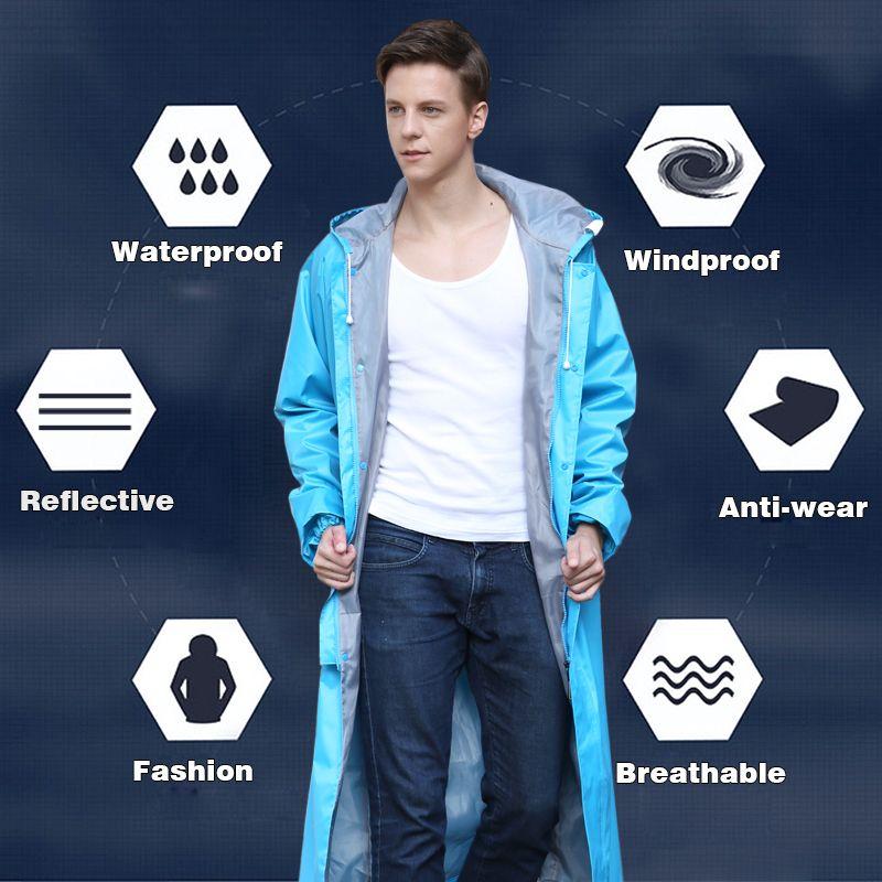 Rainfreem Undurchlässig Regenmantel Frauen/Männer Wasserdicht Graben Mantel Poncho Single-layer Regen Mantel Frauen Regenbekleidung Regen Getriebe Poncho