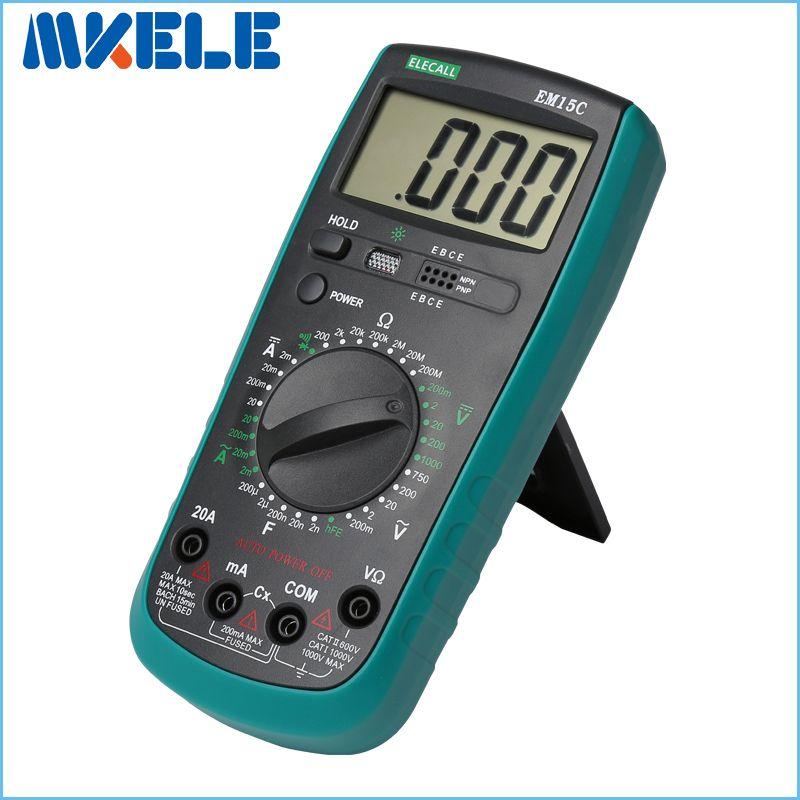 Livraison Gratuite 2000 LCD Multimètre Numérique AC/DC Tension Courant D'essai Mise Hors Tension Automatique mastech de diagnostic-outil multimetro