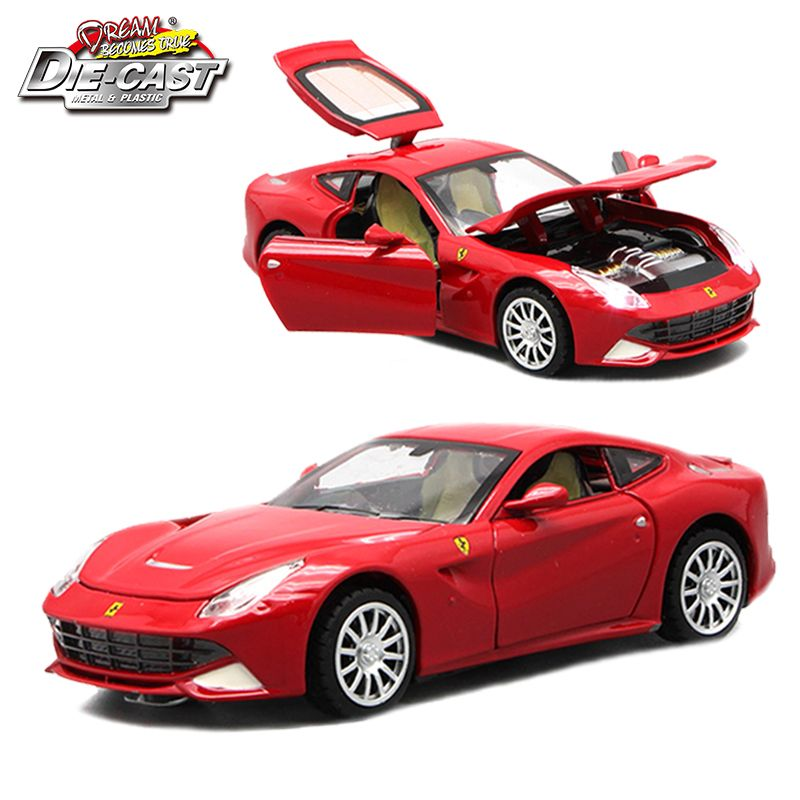 Modèles réduits réduits jouets voitures de Sport, véhicule de Collection pour garçons de différentes couleurs