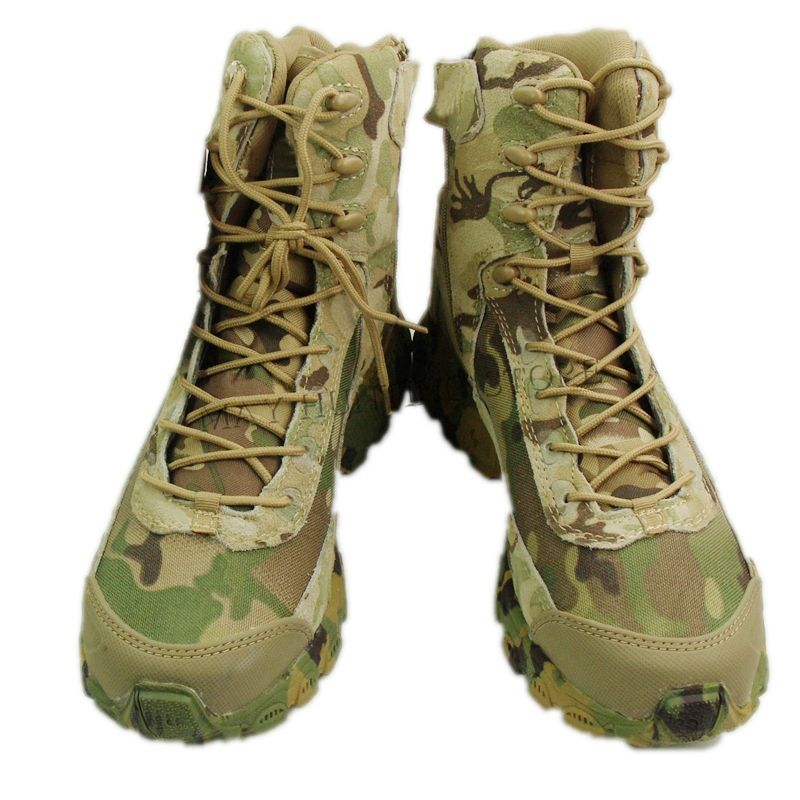 High Top Camo Tactical Boots Camping Hiking Hunting Boots Climbing Desert Shoes CP Multicam
