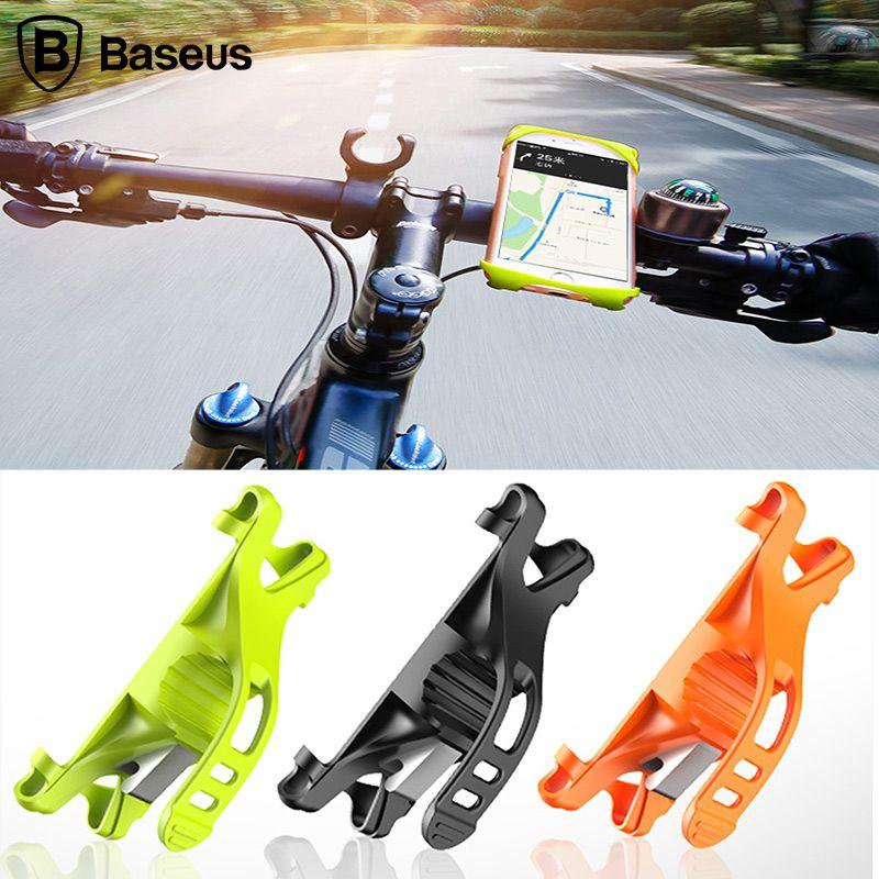 BASEUS гибкие Велосипедный Спорт держатель телефона для iPhone X 8 7 4-6 дюймов велосипед Mount мобильный телефон владельца Стенд поддержка навигации ...