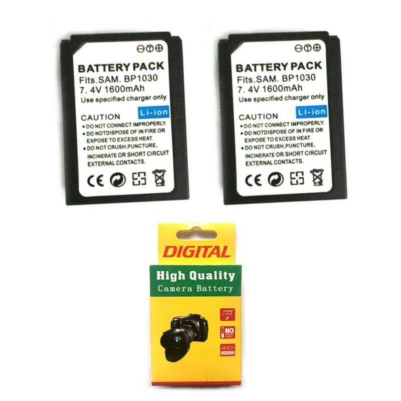 2 PCS 7,4 V 1600 mAh BP-1030 BP1030 BP1130 BP-1130 Kamera Batterie Für Samsung NX200 NX210 NX300 NX500 NX1000 NX1100 NX2000 NX-300M