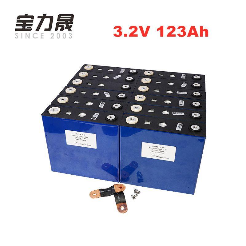 UNS EU STEUER KOSTENLOSER 16 PCS 3,2 V 123Ah lifepo4 batterie 4000 ZYKLUS LFP lithium-solar MAX 3C 24 V 36 V 120ah RV motor wind power system RV