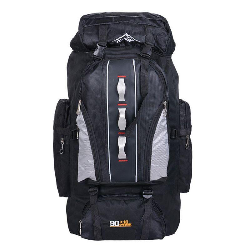 NIBESSER Mountaineering Backpack 90L+10L water Repellent Nylon Backbag Unisex Travel Daypacks for Trip Large Backpack 100L
