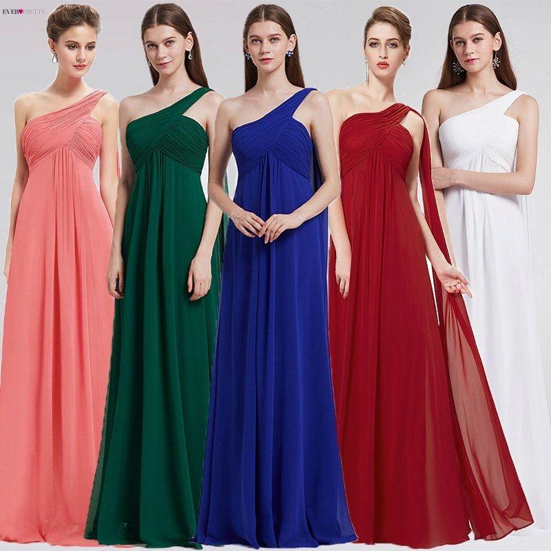 Robes de soirée Jamais Assez EP09816 robe asymétrique Ruches Rembourré Occasion Spéciale Mariages Événements Longue 2019 Nouvelle robe de soirée