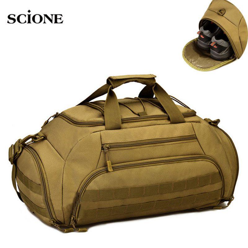 35L Sporttasche Rucksack Rucksack Tactical Military Molle Taschen Wasserdichte Schuhe Sport Handtasche Camping 14 ''Laptop Canera X335WA
