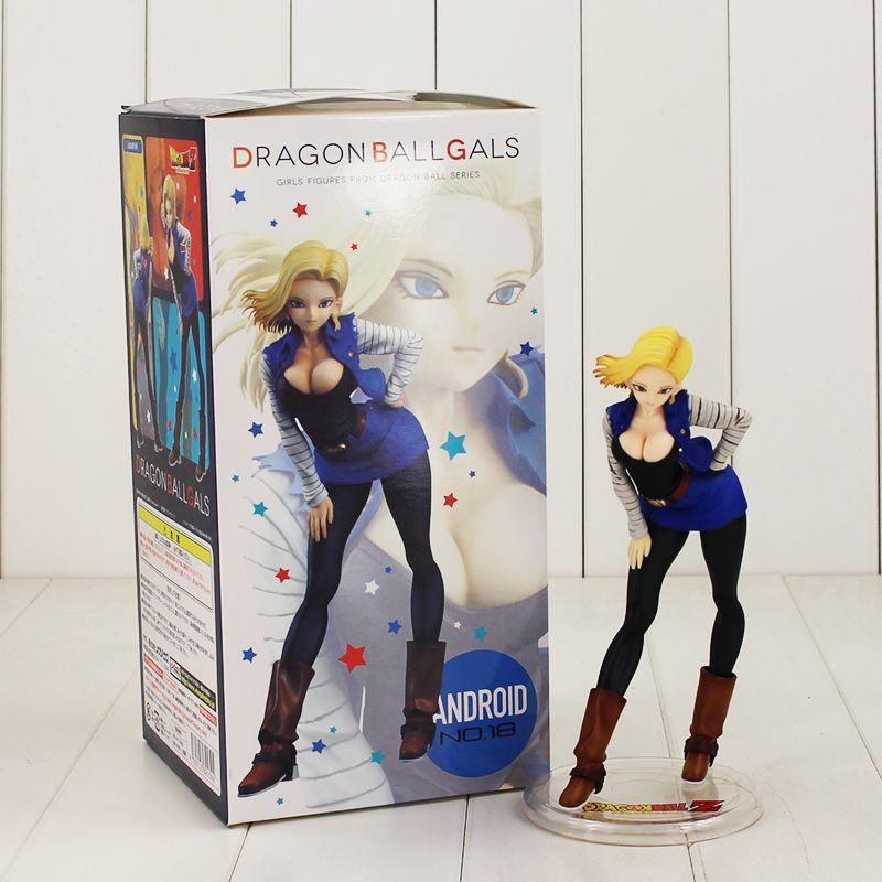 19cm Dragon Ball ANDROID NO 18 Lazuli Figure Model Toy DragonBall Z Gals Super Saiyan NO. 18 sexy girl for Christmas gift