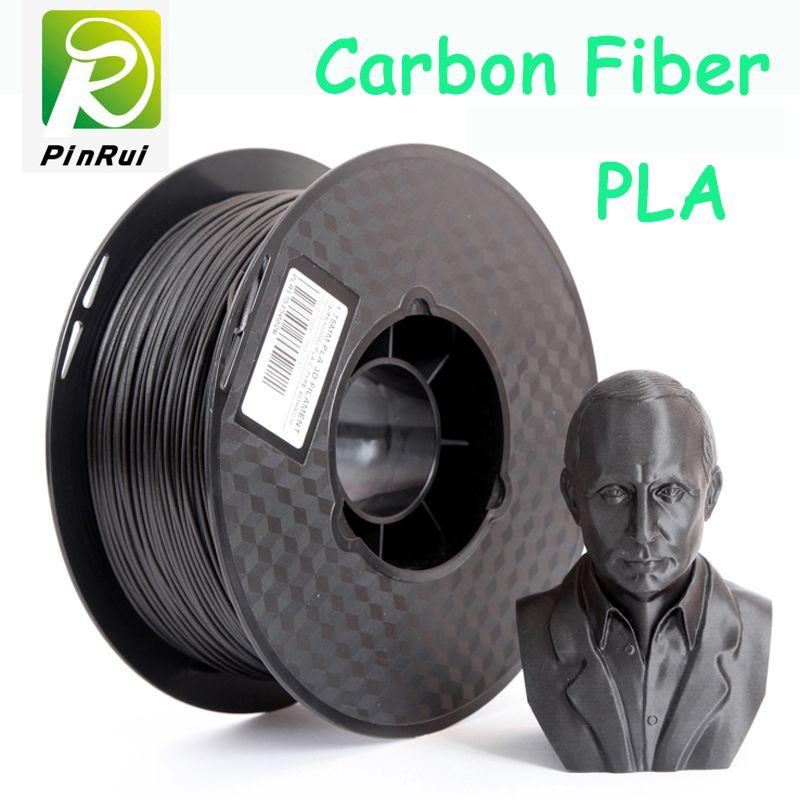 Nouveau design Fiber De Carbone pla 3d imprimante filament pla filamento 1.75 3d filament 0.8 kg 3d imprimante extrudeuse 1.75 pla filament
