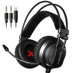 Gaming Headset Vibration Big Earphones & Headphone with Microphone Brand Xiberia Original Genuine For gamer 3.5mm v10