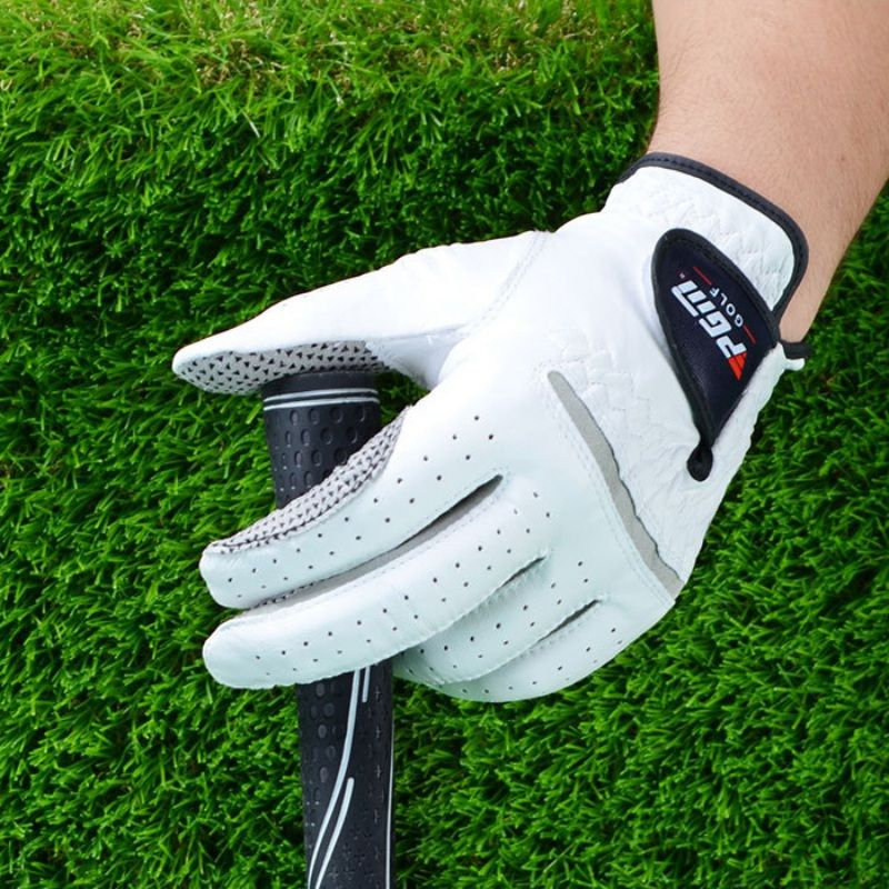 Men's Anti-slip Golf Gloves Genuine Leather Left and Right Hand Breathable Pure Sheepskin Gloves