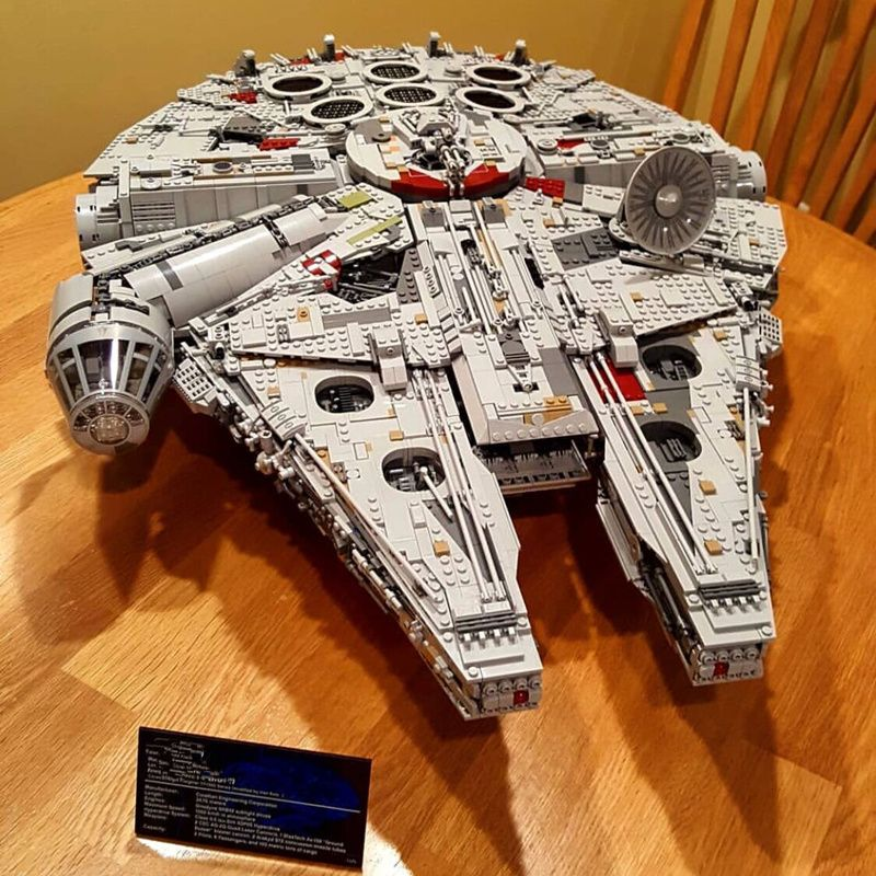 Lepin 05132 8445PCS Millennium Falcon Ultimate Collector's Destroyer Star Series Wars Building Blocks Bricks Compatible 75192