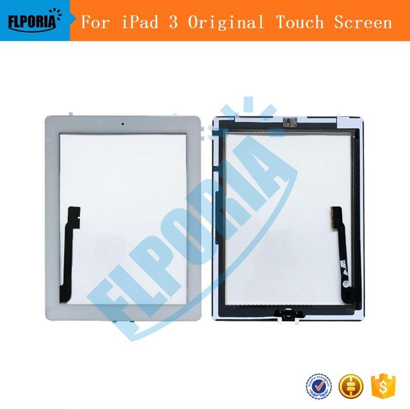 Für iPad 3 Touchscreen Digitizer Display Glas Anordnung Enthält Home Button flex Kamera Halter rahmen Tablet-bildschirm Für iPad 3