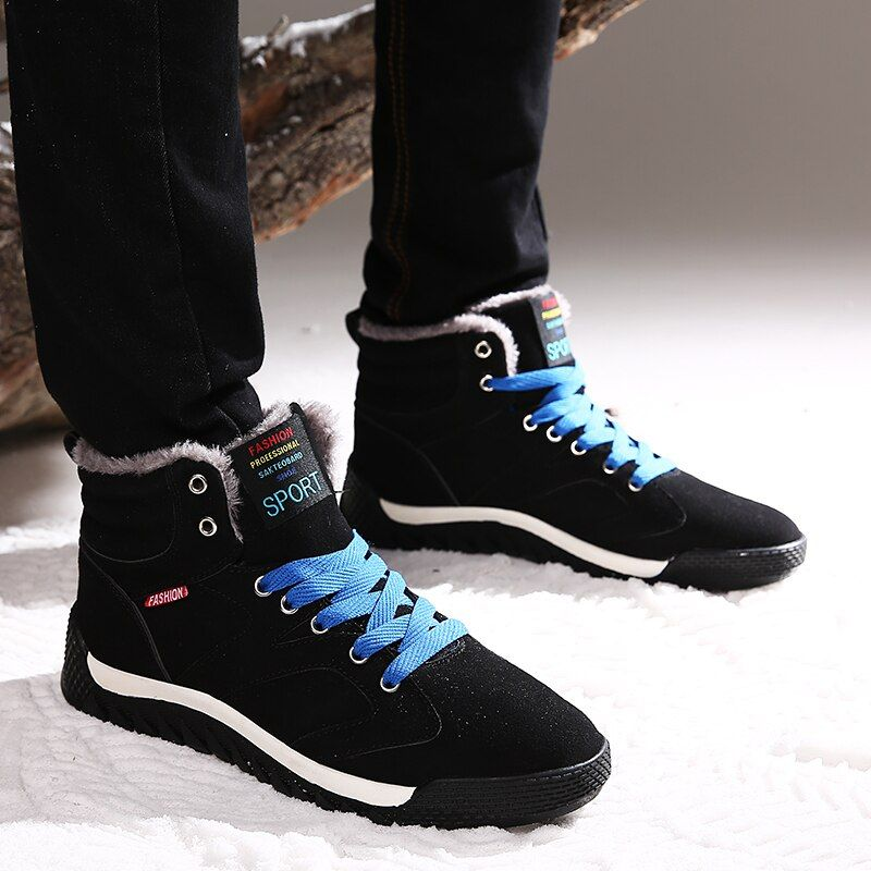Plush Winter Warm Mens Running Shoes Boots Sport Sneakers Men Comfortable Outdoor Sport Shoe For Male Size 39-48