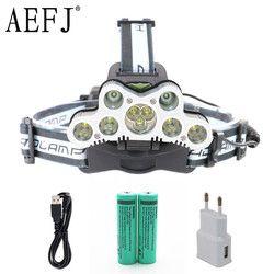 30000 lumens 9 XM L T6 R5 Led Headlamp Headlight Waterproof Kepala Flash Lampu Camp Hike Fishing Cahaya + 18650 + USB Charger