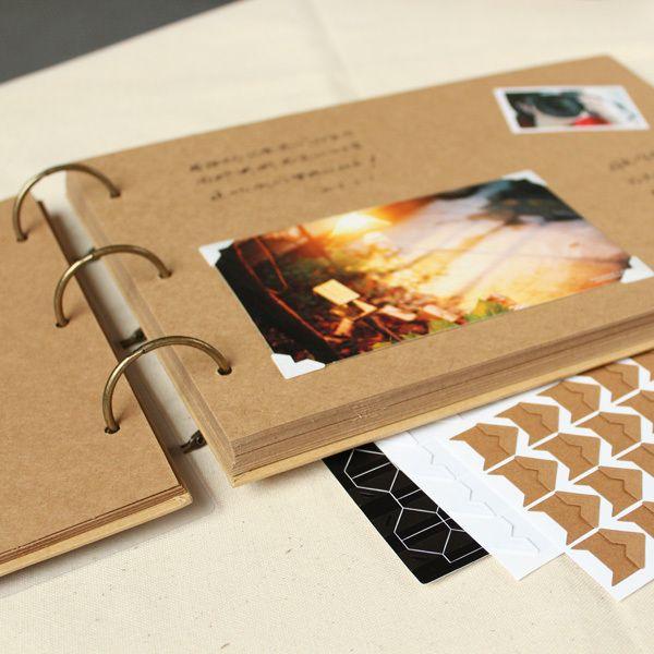 A4 56 P Kraft BRICOLAGE À La Main Bébé Album Couple Créatif Photographie Polaroïd Coller Famille Album Cadre Photo Albums pour Nouveau-Né